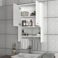 Dulap pentru baie Vira, Furny Home, 59.3x19.5x90 cm, alb