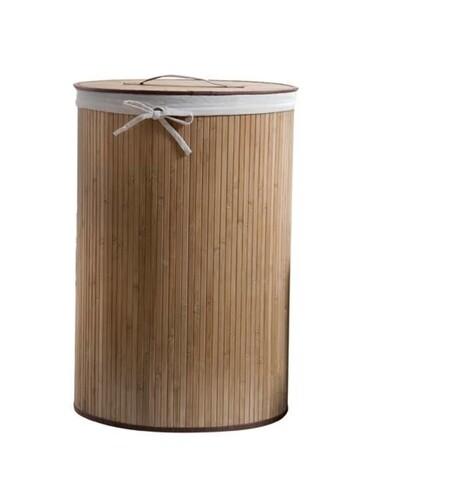 Cos pentru rufe Naturale, Compactor, 40 x 60 cm (80 L), bambus/policoton, natur