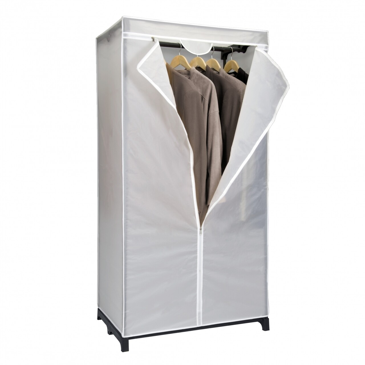 Dulap portabil pentru haine Polly, Metaltex, 75x50x150 cm, 100% PEVA, alb mat