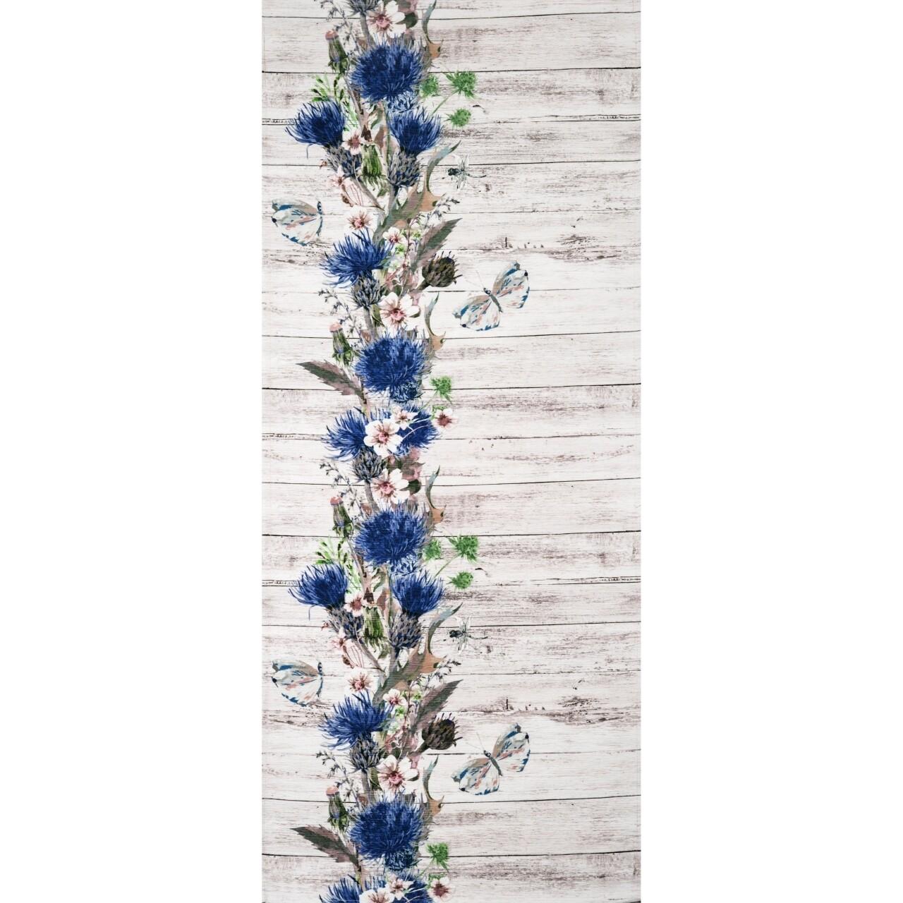 Covor rezistent Webtappeti Fiori Selvatici 58x140 cm, multicolor