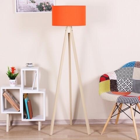Lampadar Casa Parasio, 38x42x145 cm, 1 x E27, 60 W, portocaliu/alb