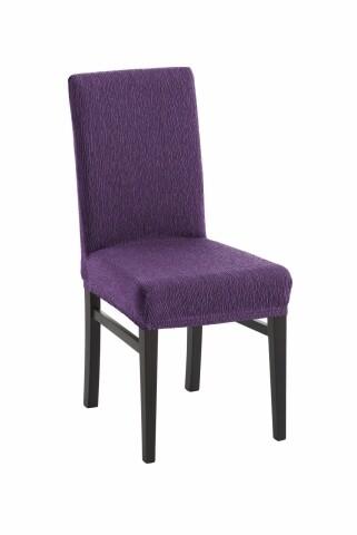 Set 2 huse elastice scaun, Belmarti, Teide Mov