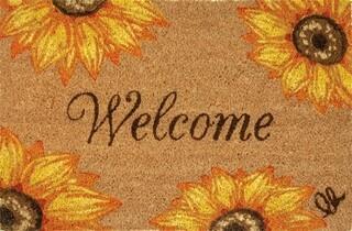 Covoras de intrare, Olivo Tappeti, Joy 13, Sunflower, 40 x 60 cm, fibra cocos, multicolor