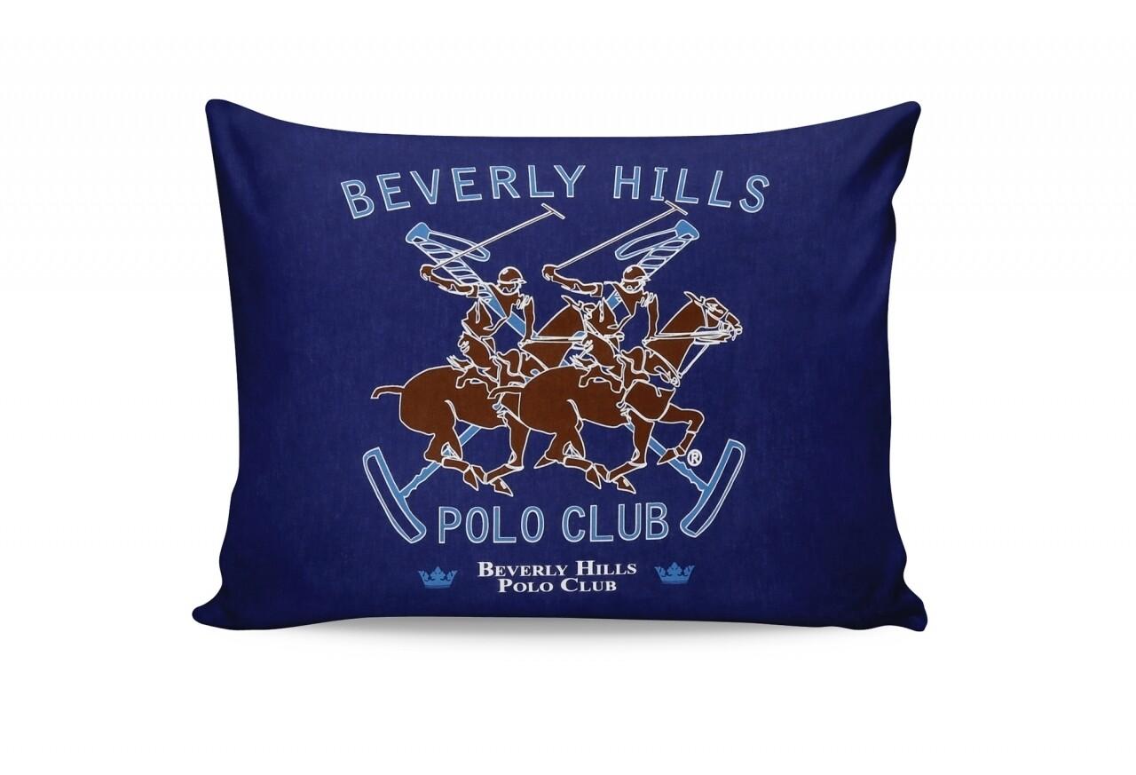Set 2 fete de perna 50x70, 100% bumbac, Beverly Hills Polo Club, Bej/Maro/Bleumarin/Turcoaz