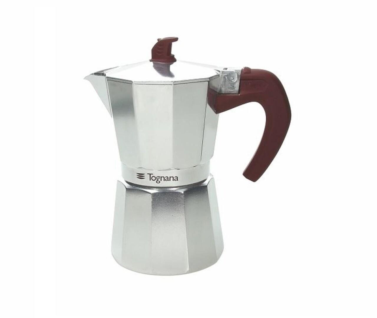 Cafetiera Grancucina Grey, Tognana, 6 cesti, 300 ml, aluminiu/silicon/plastic, argintiu