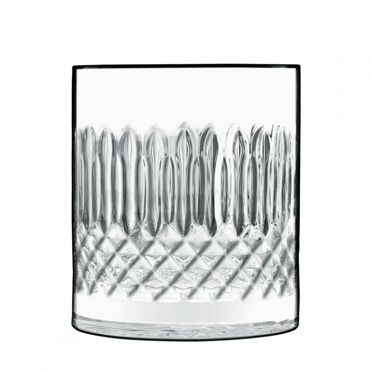Set 4 pahare whisky, Diamante D.O.F., Luigi Bormioli