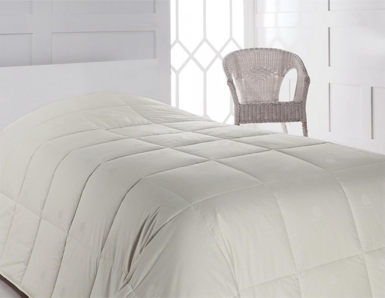 Pilota de pat pentru o persoana din 100% bumbac, 155x215 cm, Cotton Box,Ecru