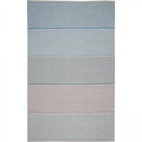 Covor rezistent Eko, 9025 - Blue, Beige, 100% bumbac, 80 x 150 cm