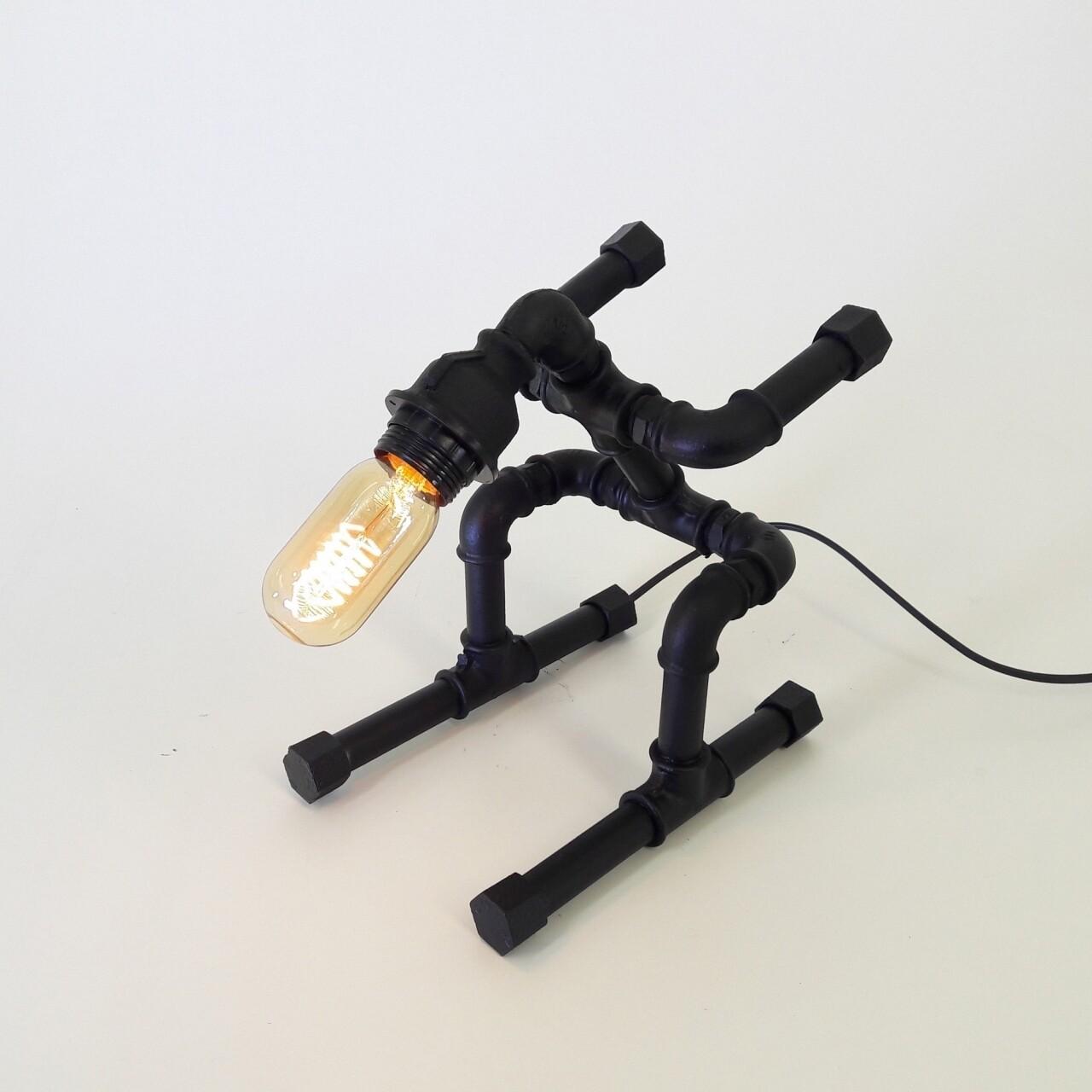 Lampa de masa All Design, metal, 23x26 cm, Black