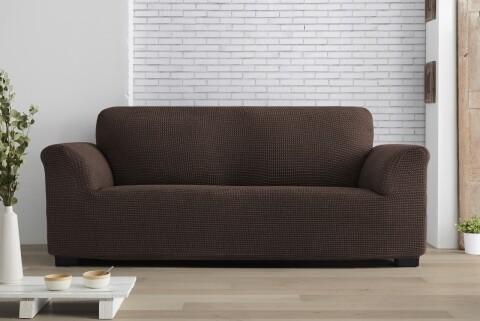 Husa elastica canapea, Belmarti, Milos Brown, 2 locuri