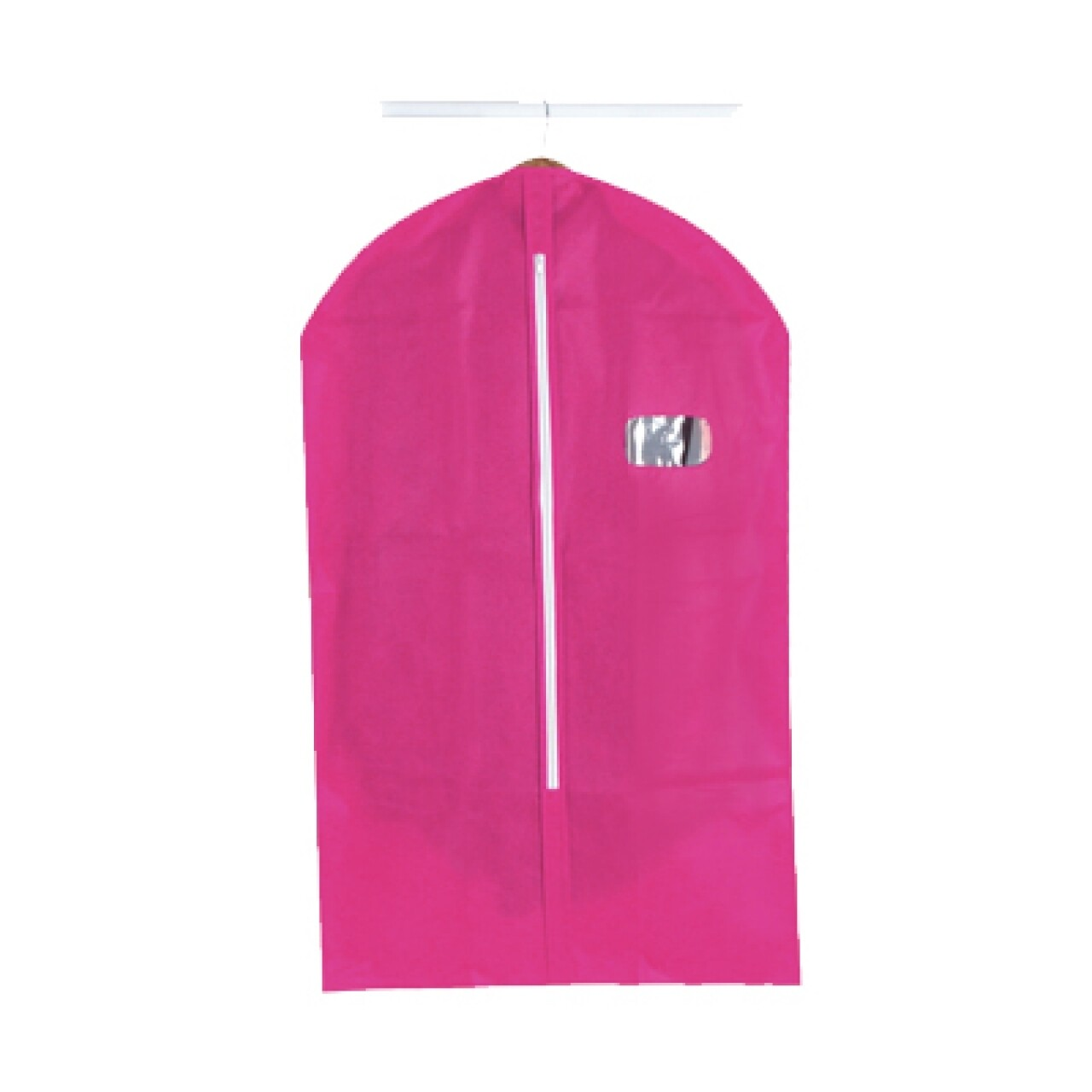 Husa pentru haine Jocca Fuchsia, 60x101 cm, PEVA, roz
