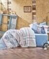 Lenjerie de pat matlasata pentru 2 persoane, 4 piese, 100% bumbac ranforce, Cotton Box, Seaport