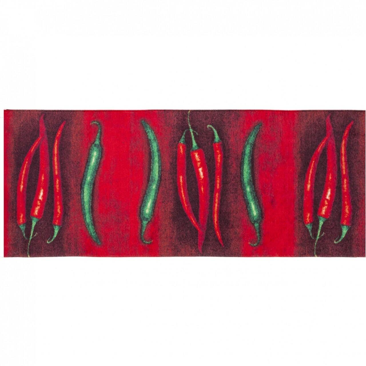 Covor rezistent Webtappeti PEPERONCINI 60X150 cm, rosu