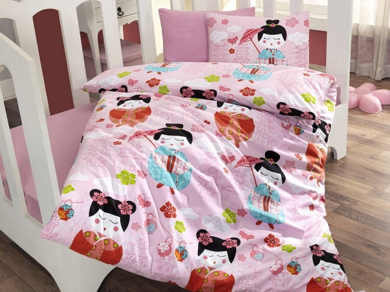 Lenjerie de pat pentru copii, 4 piese, 100% bumbac ranforce, Cotton Box, Kucuk Hanim