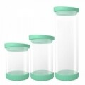 Recipient Green, Jocca, 810 ml, sticla/silicon, transparent/verde