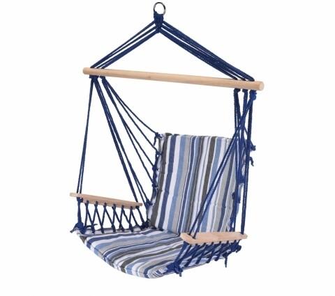 Hamac tip scaun , 53x100 cm, dungi albastre