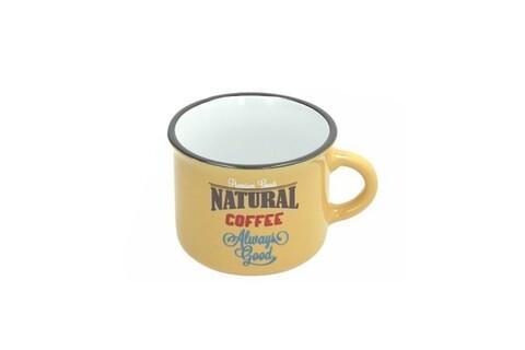 Ceasca pentru cafea, Tognana, 110 ml, ceramica, galben