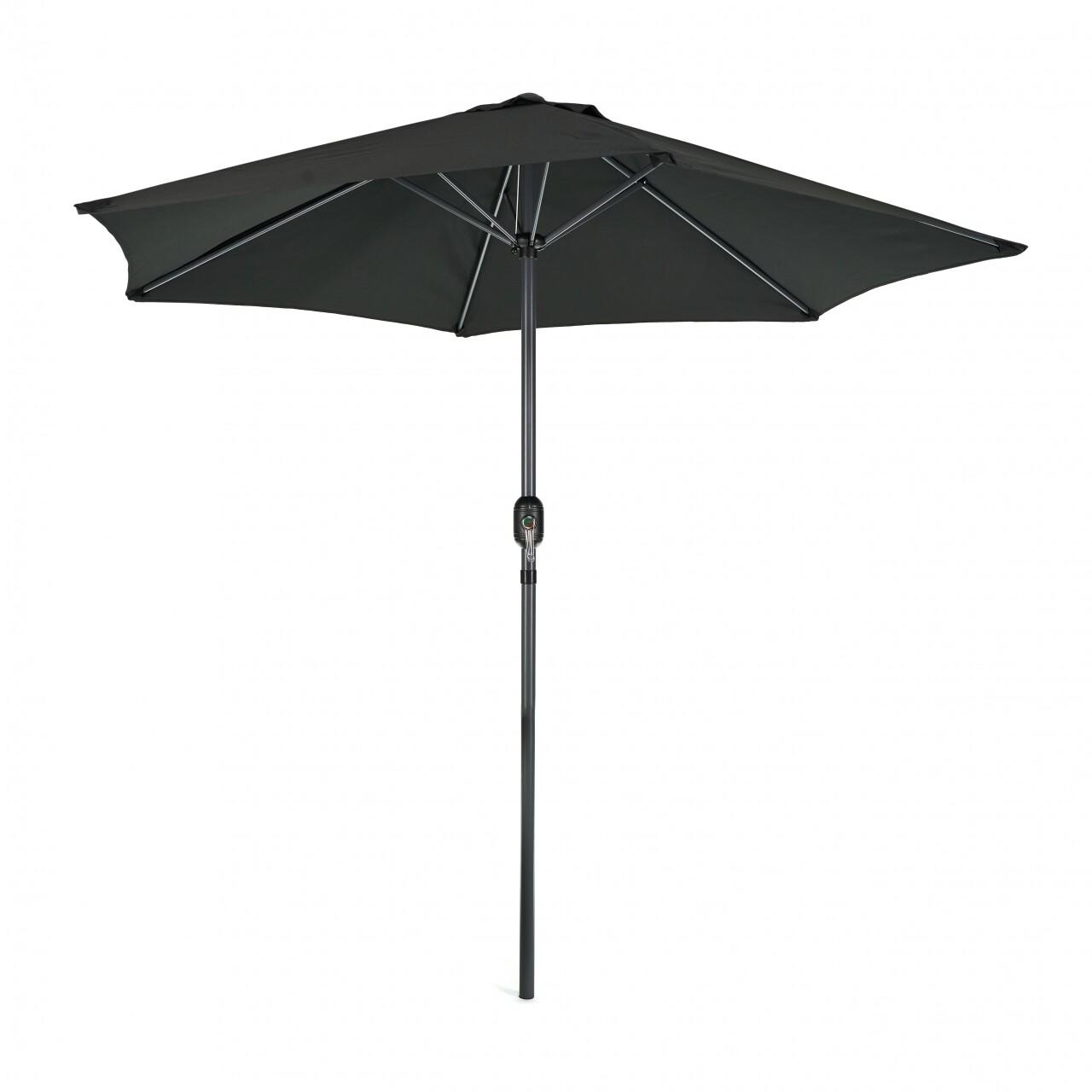 Umbrela universala cu manivela, Heinner, 38 cm, negru