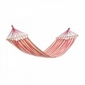 Hamac White & Red Stripes cu bare de lemn, 200x80 cm, Heinner
