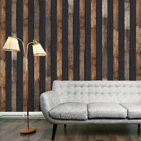Fototapet vlies, Wooden duo, Artgeist, 50x1000 cm