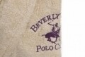 Halat de baie unisex, Beverly Hills Polo Club, 100% bumbac, XS/S, Cream