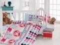 Lenjerie de pat pentru copii, 4 piese, 100% bumbac ranforce, Cotton Box, Sweet bear
