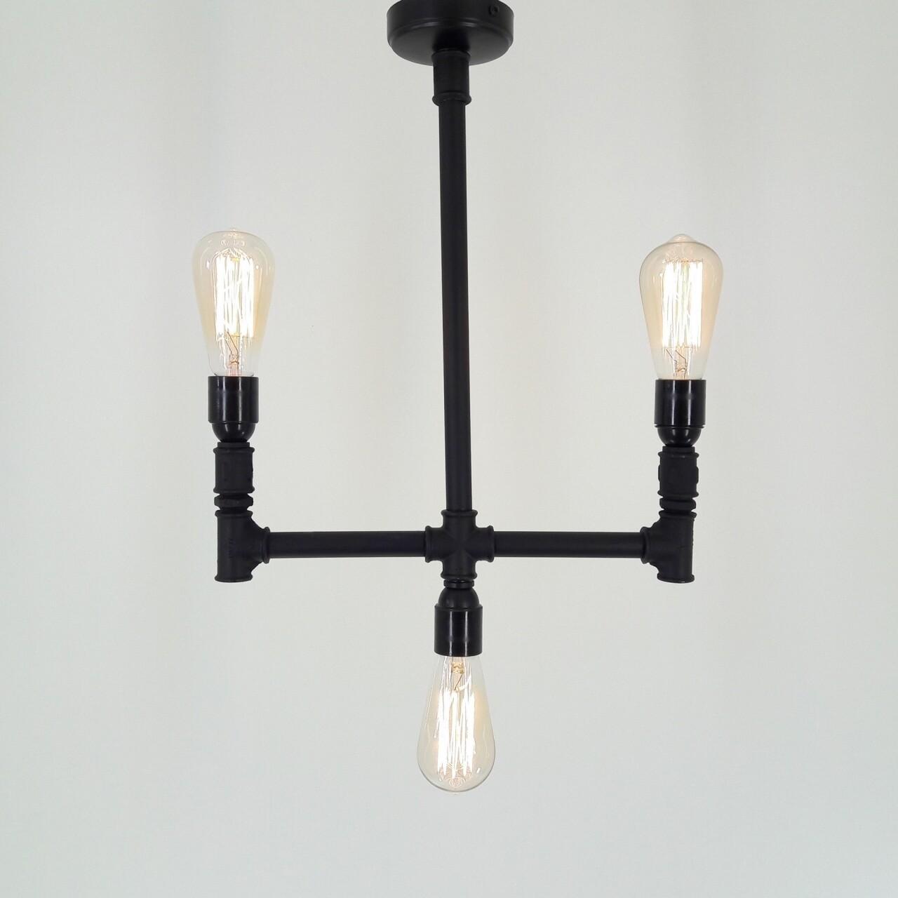Candelabru Lalezar, All Design, metal, 55x40x65 cm, negru