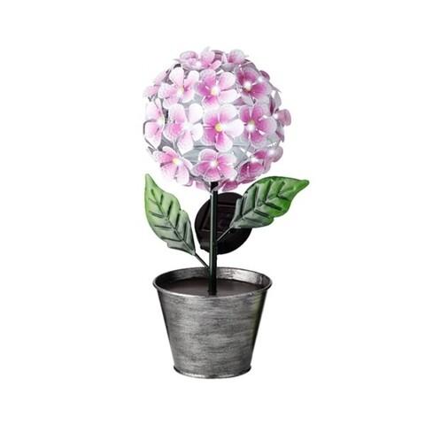 Lampa de gradina Flower, Lumineo, 18x14.5x34 cm, 36 led-uri, roz