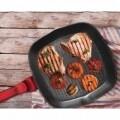 Tigaie grill, Berlinger Haus, 28 cm, aluminiu forjat si marmura, Burgundy