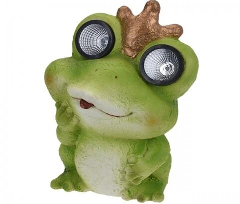 Lampa solara de gradina, 34 cm, Frog
