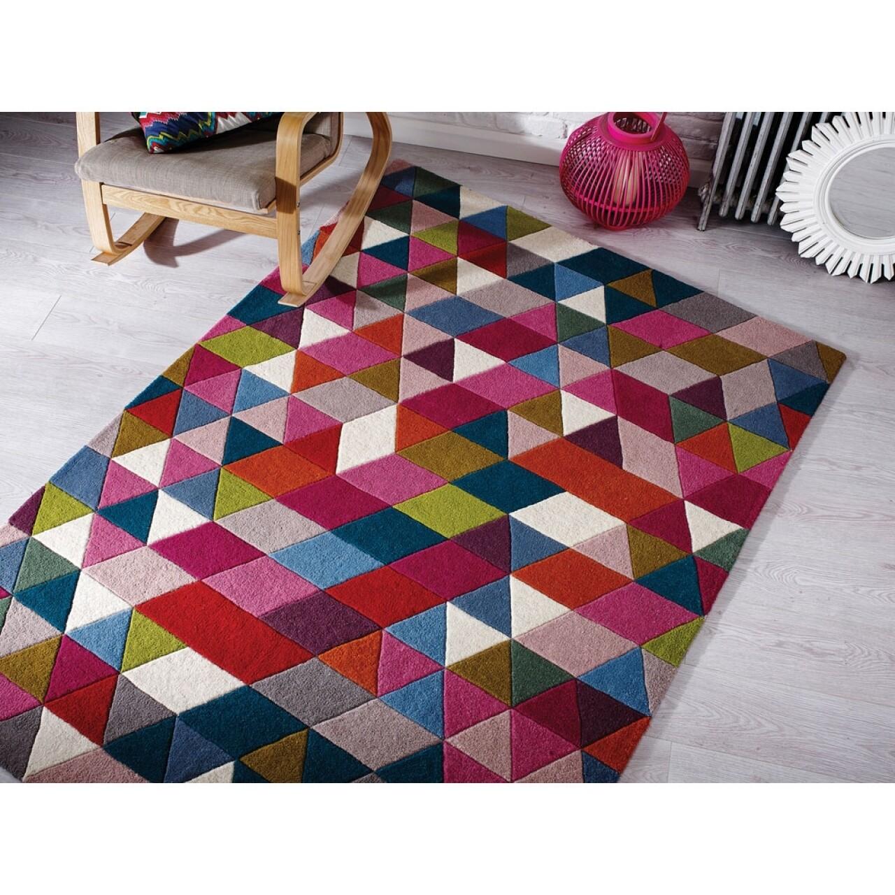 Covor Illusion Prism Pink/Multi 80X150