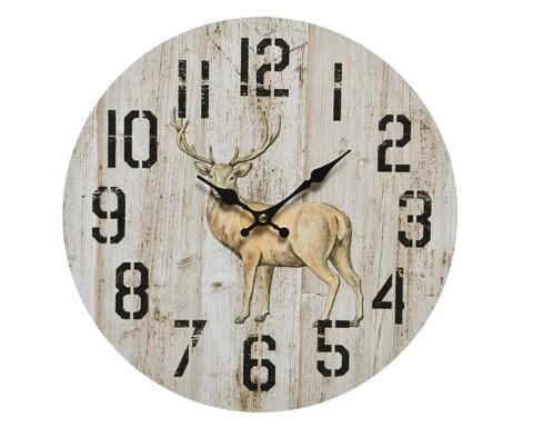 Ceas de perete Deer, Decoris, 33.8 x 0.5 cm, lemn