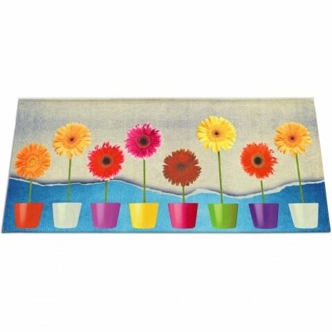 Covor rezistent Webtappeti Flower Power 60 x 115 cm, multicolor