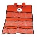 Organizator incaltaminte pentru copii Bear, Jocca, 40 x 70 cm, polipropilena, portocaliu