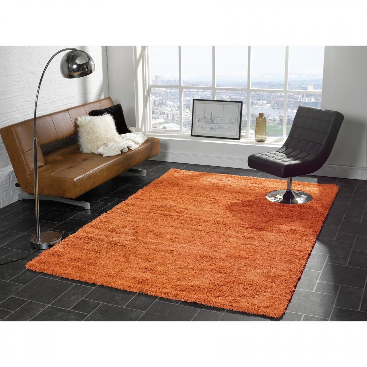 Covor Cariboo Orange, Flair Rugs, 120 x 170 cm, 100% polipropilena, portocaliu