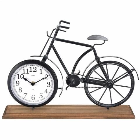 Ceas de masă cu suport din lemn Bike