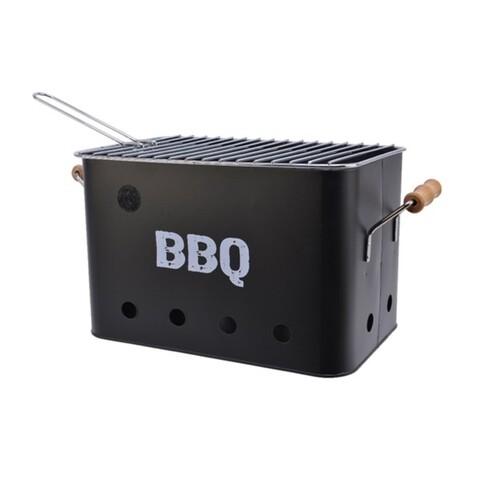 Gratar BBQ, Decoris, 32.5x21x21 cm, metal, negru