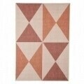 Covor indoor outdoor Floorita GEO RUST RED 160X230