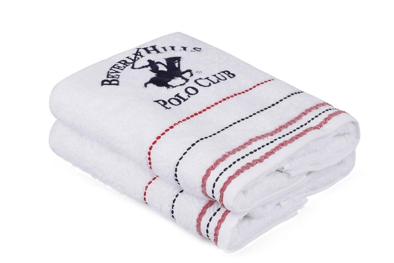 Set 2 prosoape de maini, Beverly Hills Polo Club, 50x90 cm, 100% bumbac, alb 21