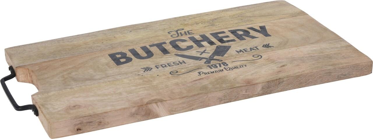 Tocator Butchery, 45x24.5x2 cm, lemn de mango