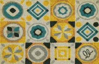 Covoras de intrare, Olivo Tappeti, Joy 13, Square, 40 x 60 cm, fibra cocos, multicolor