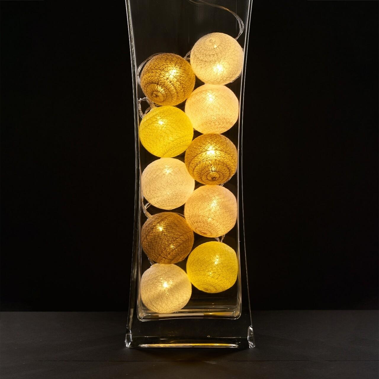 Ghirlanda luminoasa cu 10 LED-uri Yellow, Heinner Home, 180 cm, plastic, alb/galben
