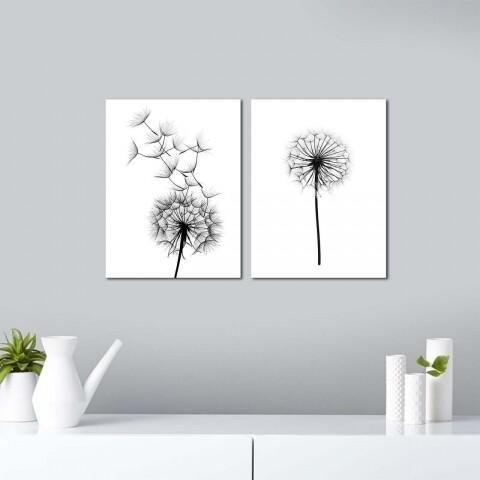Set 2 tablouri decorative, Alpha Wall, Dandelion