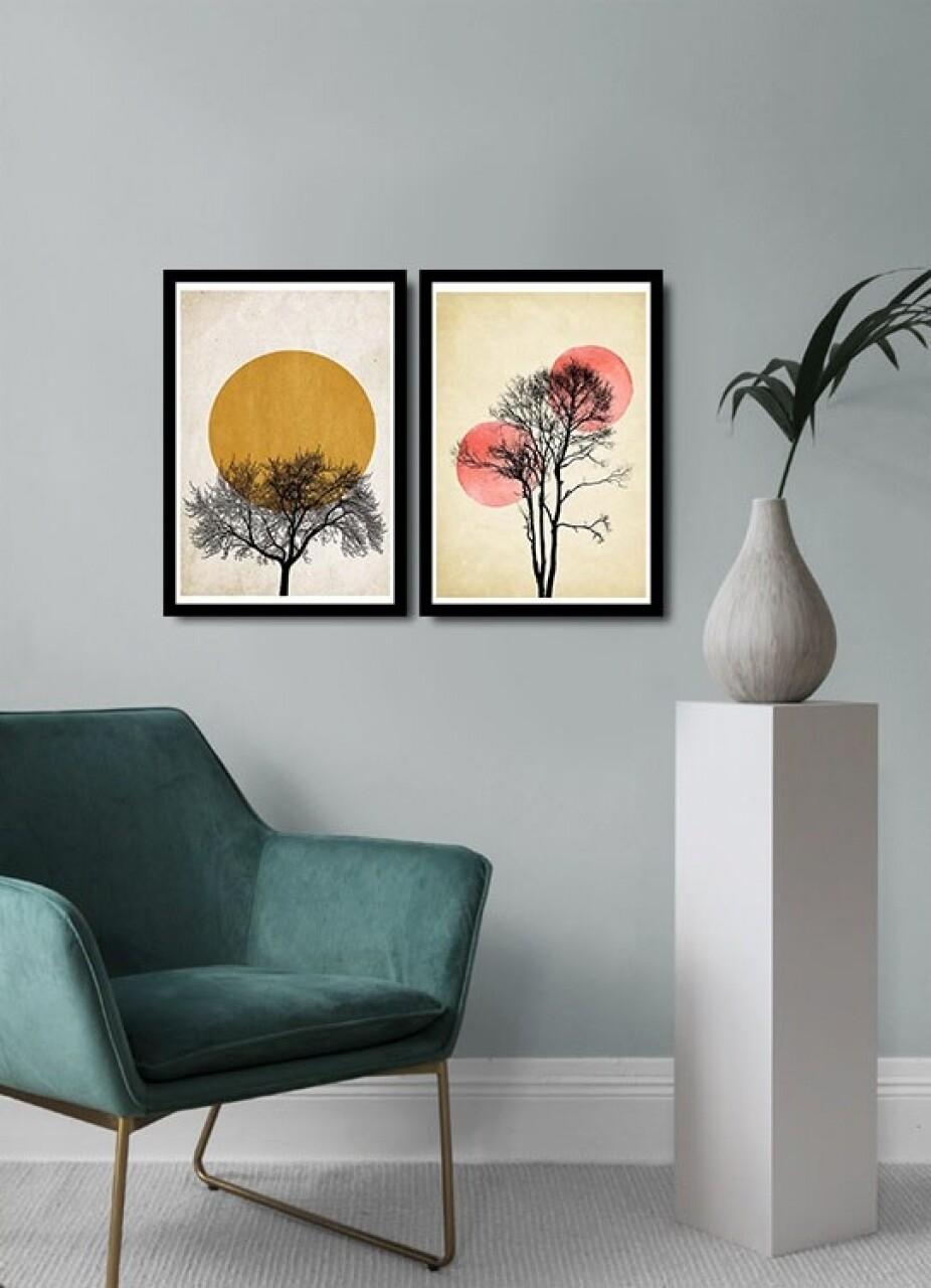 Set 2 tablouri decorative, Alpha Wall, Safari Sun, 36x51 cm