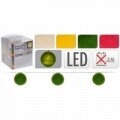 Ghirlandă cu 10 Led-uri Ball Puff Yellow