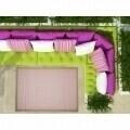Covor indoor outdoor Floorita CHROME PINK 200X290