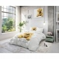 Lenjerie de pat dubla Beauty Sleep White, Royal Textile, 3 piese, 200 x 220 cm, 100% bumbac, multicolora