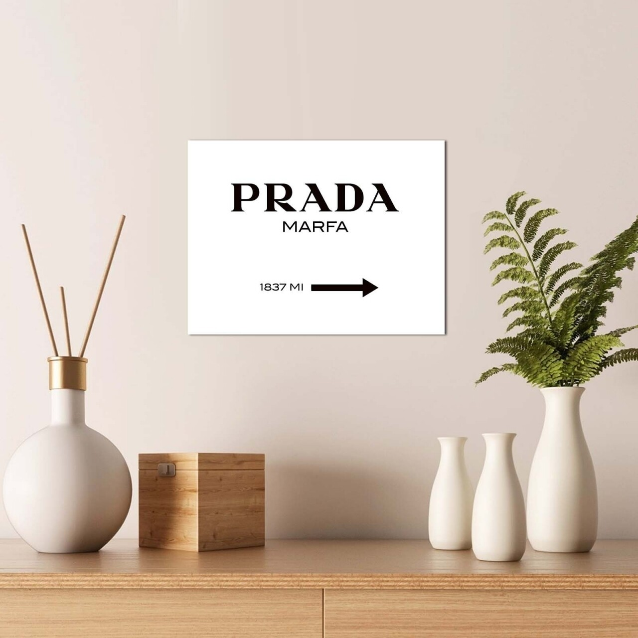 Tablou decorativ, Alpha Wall,Prada, 30x40 cm