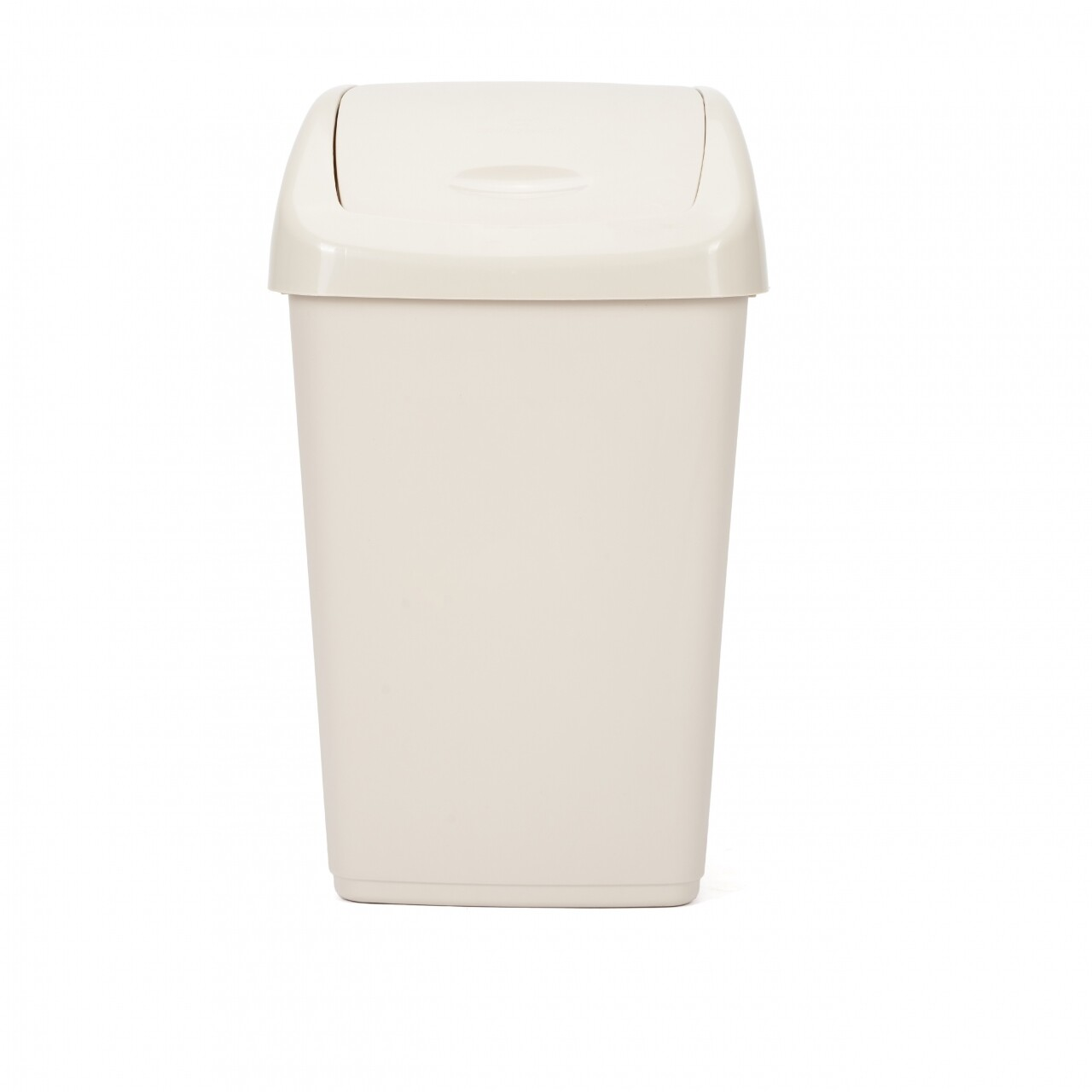 Cos de gunoi cu capac batant, Kara Beige, Heinner, 24.5 x 31.5 x 53 cm (25L), plastic, bej