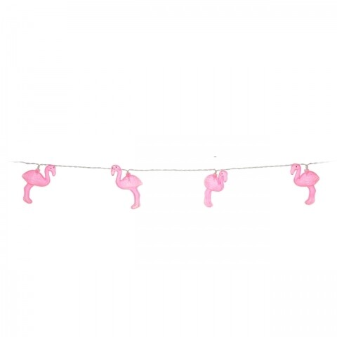 Ghirlandă cu 10 Led-uri Party Flamingo